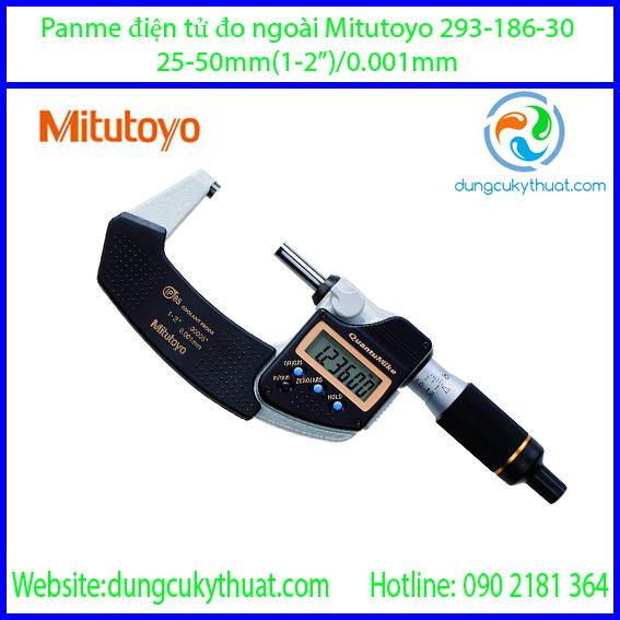 """Panme điện tử đo ngoài Mitutoyo 293-186-30/25-50mm/1-2""""x0.001mm"""