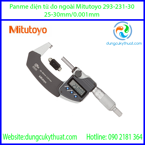 Panme điện tử đo ngoài Mitutoyo 293-231-30/25-50mm x 0.001 (SPC)