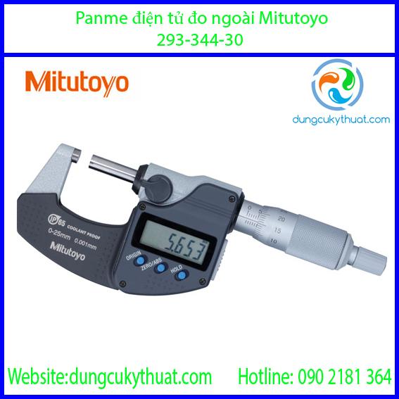 """Panme điện tử đo ngoài Mitutoyo 293-344-30/0-1""""/25mm x 0.001 (SPC)"""